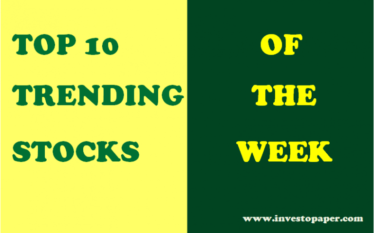 top 10 trending stocks