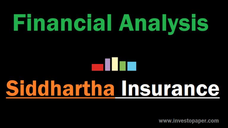 financial analysis of siddhartha insurance